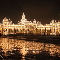 The second largest city is Mysore in Karnataka, India. It is also known as the Palace city of India. The Mysore is most visit able city in India. Mysore Palace, The Places Youll Go, Cool Places To Visit, Tourist Places, Famous Places, Top Destinations, Karnataka, Madurai, South India