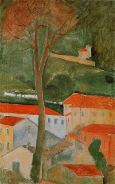 Find the latest shows, biography, and artworks for sale by Amedeo Modigliani. Italian painter and sculptor Amedeo Modigliani is celebrated for his iconic por… Amedeo Modigliani, Modigliani Paintings, Italian Painters, Italian Artist, Gustav Klimt, Landscape Art, Landscape Paintings, House Landscape, Oil Paintings