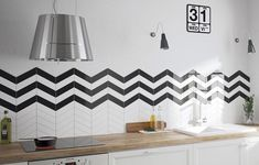 Chevron tiles are so in right now! Get the low down on the different styles, how to lay and more with our handy buying guide. Chevron Tile, Downstairs Toilet, Splashback, Kitchen Tiles, Stuff To Buy, Porcelain, Design, Home Decor, Tiles