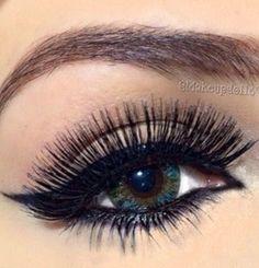 Blue and false lashes