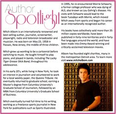Check out this week's #AuthorSpotlight: #MitchAlbom #NewYorkTimes #BestSellingAuthor #TheMagicStringsOfFrankiePresto  To learn more about his charities, visit www.mitchalbomcharities.org