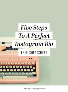 5 Steps to a Perfect Instagram Bio