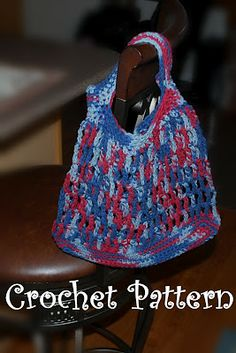 Posh Pooch Designs Dog Clothes: Cotton Shopping Bag Crochet Pattern ~ Free Crochet Market Bag Tote Bag Pattern Tutorial