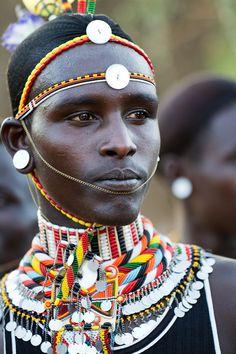 Samburu warrior in Kenya