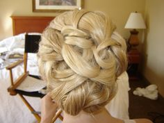 love my bridal updo...classic, detailed ...pretty!