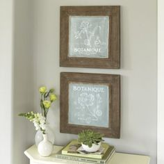 Ballard Designs Garden Botanique Indoor Outdoor Plaques Set Of 2 99