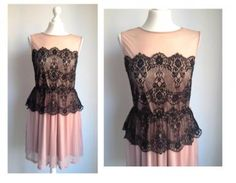 416f00e284 MISS SELFRIDGE pudrowa łososiowa sukienka koronka - 6013270528 - oficjalne  archiwum allegro