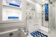 Alcove, Bathroom Lighting, My House, Bathtub, Mirror, Furniture, Home Decor, Modern Shower