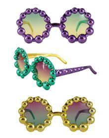 Mardi Gras Beads Glasses