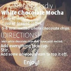Starbucks Drinks, Coffee Drinks, Ninja Coffee Bar Recipes, Mocha Recipe, Frappuccino Recipe, Nespresso, Yummy Drinks, Smoothie Recipes, Drink Recipes
