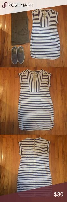 J.Crew Stripe Tunic Dress Only worn once this stripe dress is perfect for casual summer days. 34in long. J. Crew Dresses Mini