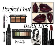 """#statementlip"" by ceridwen86 ❤ liked on Polyvore featuring beauty, Kat Von D and statementlip"