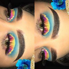 Pretty Eye Makeup, Crazy Makeup, Cute Makeup, Glam Makeup, Makeup Inspo, Makeup Inspiration, Beauty Makeup, Makeup Blending, Makeup Guide