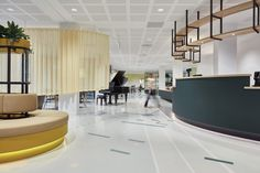 Domstate Zorghotel is a rehabilitation centre in Utrecht, the Netherlands, designed by Dutch studio Van Eijk & Van der Lubbe to give patients a hotel experience. Vertical City, Utrecht, Treatment Rooms, Floor Finishes, Interior Accessories, Design Firms, Door Handles, Wellness, Interior Design