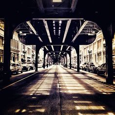 A unique view of #Chicago from beneath the L train.     Photo courtesy of travelholics on Instagram.