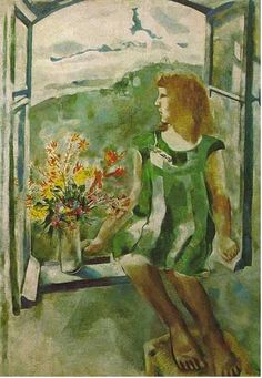 Ida at the Window - Marc Chagall (Russian-French, 1887-1995)