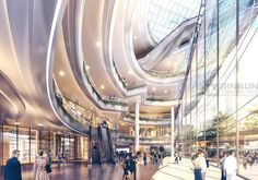 3d Rendering, Atrium, Shopping Mall, Thesis, Opera House, Interior Decorating, Commercial, Street, Building