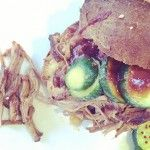 This recipe makes sweet, smoky, falling apart piece of meat that doesn't require any refined sugar. Slather on the sauce and serve on our gluten-free buns with our bread + butter pickles. on goop.com. http://goop.com/recipes/pulled-pork/