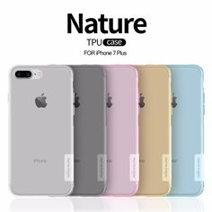 Retail Box& Nillkin Nature TPU soft transparent UltraThin Clear Back Cover Case For IPhone 6 plus 6S plus 7 Plus Iphone 7 6S 6