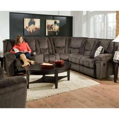 Hamilton 3-Pc Reclining Sectional Set by Chelsea Home Furniture