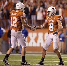 Colt Mccoy and Jordan Shipley. Dream Team forever <3