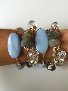 Love the colors of these bauble bangles