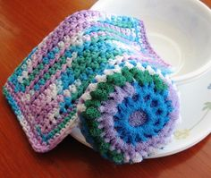 Hand Crocheted Dish/Washcloth and Nylon by AngelsWingsCreations
