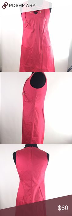 Calvin Klein dress Hot pink Calvin Klein dress with lace up front with gold tips A21 Calvin Klein Dresses