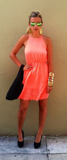 Gorgeous Tangerine Summer Dress