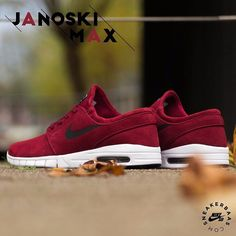 "#nike #nikeskateboarding #skateboarding #nikered  Nike SB Stefan Janoski Max ""Red"" - This Nike Zoom Stefan Janoski is clothed in red suede. High-quality stitching is done at the edges of each panel. The Swoosh got a clean, black colorway while the Air Max sole is clothed in a clean, white colorway.  Now online available 