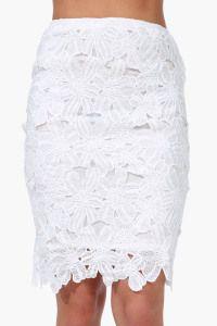 #spring white pencil skirt
