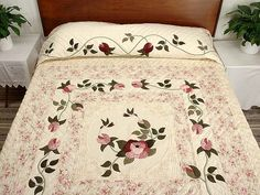 I Promised You a Rose Garden Quilt -- gorgeous well made Amish Quilts from Lancaster (hs3271)