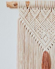 ] Lines, lines, lines 🧡🍂 . Macrame Wall Hanging Patterns, Macrame Wall Hanging Diy, Macrame Patterns, Geometric Patterns, Macramé Art, Macrame Design, Macrame Knots, Macrame Bag, Macrame Projects