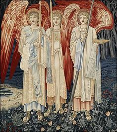 """Detail of the tapestery """"The Quest for the Holy Grail: The Achievement"""" by Edward Burne-Jones"""