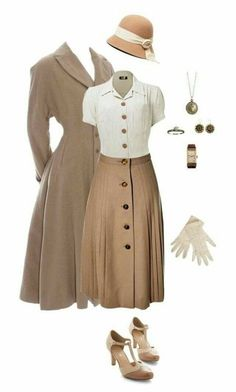 vintage outfits for women ~ vintage outfits ; vintage outfits for women ; Look Retro, Look Vintage, Vintage Hats, 50s Look, Vintage Outfits, Fashion Vintage, 1940s Outfits, Retro Vintage Dresses, Modern 50s Fashion