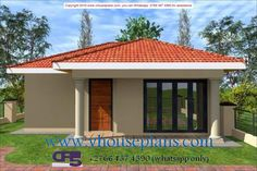 W FOR SHOWCASE ONLY 242 2 Bedroom House Plans, My House Plans, Family House Plans, House Floor Plans, Village House Design, Kerala House Design, Village Houses, Flat Roof House Designs, Bungalow House Design