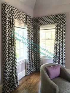 Leatherwood Design Co: Inverted pleat panels over flat valance