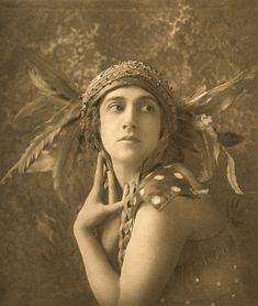 'Tamara Karsavina, L'Oiseau de Feu' (1911) by E.O. Hoppéby German-born British photographer E.O. Hoppé (1878-1972). Vintage photogravüre. via Flo Peters Gallery