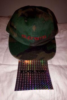 38cce72d55f Supreme Woodland Camo 6 panel hat Compact Supreme logo FW 17 H37 IN HAND   Supreme