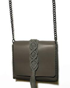 """Vanity mini"" Grey bag Grey Leather, Leather Bag, Chanel Boy Bag, Mini Bag, Hand Stitching, Ss, Vanity, Shoulder Bag, Dressing Tables"