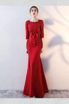 ecbd4c763ed Chic   Beautiful Burgundy Evening Dresses 2017 Trumpet   Mermaid ...