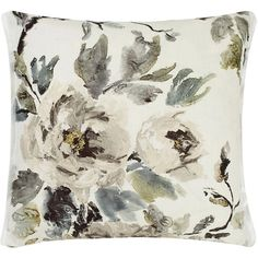 Designers Guild Shanghai Garden Ecru Cushion (£100) ❤ liked on Polyvore featuring home, home decor, throw pillows, cream colored throw pillows, cream throw pillows, garden home decor, off white throw pillows i beige throw pillows