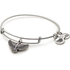 Spirit Of The Eagle Charm Bangle Team Red, White, and Blue (£22) ❤ liked on Polyvore featuring jewelry, pendants, blue jewelry, eagle jewelry, red jewellery, white jewelry and red jewelry