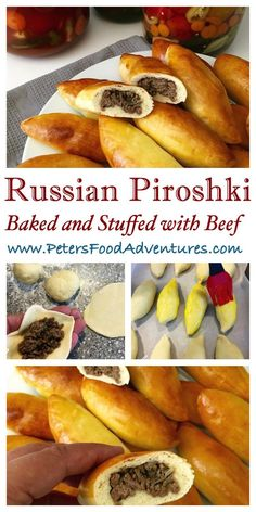 Baked Not Fried! A Classic Russian Meat Pie Stuffed with Ground Beef. Baked Beef…