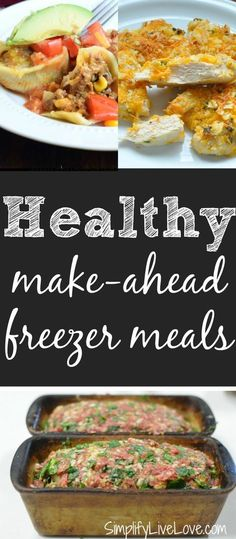 Healthy make-ahead freezer meals. This has make ahead lasagna. Yes!