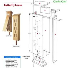 Diy butterfly house plans - House and home design Diy Wood Projects, Woodworking Projects, Woodworking Plans, Butterfly House, Diy Butterfly, Butterfly Feeder, Butterfly Species, Bird House Plans Free, House Plans With Pictures