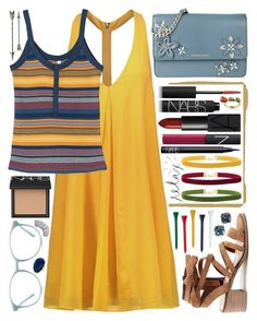 """{i know that dress is karma}"" by kk-purpleprincess ❤ liked on Polyvore featuring Alice + Olivia, RVCA, Sole Society, MICHAEL Michael Kors, NARS Cosmetics, Anne Sisteron, Janis, Acne Studios, Hudson's Bay Company and Disney"