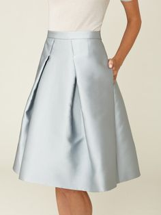 Pleated A-Line Skirt by Carolina Herrera at Gilt