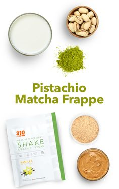Not a coffee drinker but want a boost of energy? Give this aromatic and nutty Pistachio Matcha Frappe a try instead! Protein Powder Recipes, Protein Shake Recipes, Protein Shakes, Yummy Drinks, Healthy Drinks, Meal Replacement Shakes, Coffee Drinkers, Frappe, Vegan Friendly