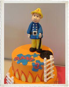 brandweerman sam #Fireman #Sam #cake Firefighter Cakes, Fireman Sam Cake, 40th Birthday, Birthday Cakes, Cupcake Cakes, Cupcakes, Pretty Cakes, Cake Ideas, Cake Recipes